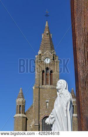 Chapelle Notre Dame De Bonsecours In Dieppe In Normandy, France.