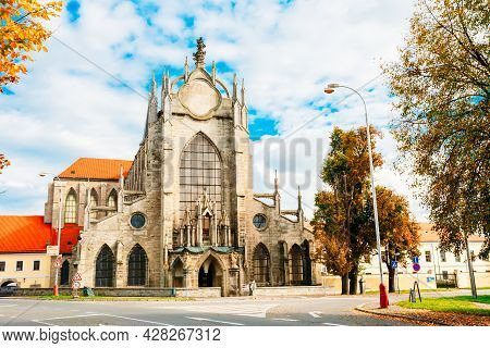 Church Of Assumption Of Our Lady And Saint John Baptist Is In Kutna Hora In Czech Republic