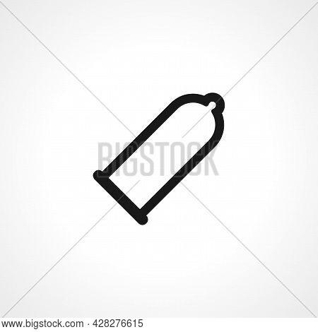 Condom Icon. Condom Simple Vector Icon. Condom Isolated Icon.