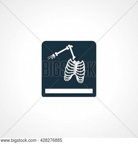 Rontgen, X-ray Icon. Broken Bones X-ray Icon.