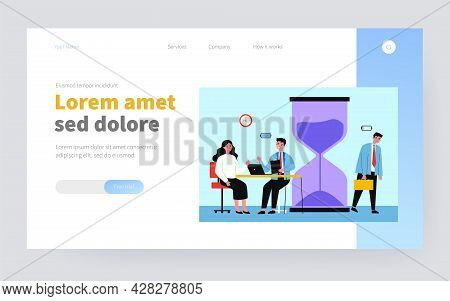 Low And High Energy For Work. Cheerful Effective Employees, Exhausted Worker Flat Vector Illustratio