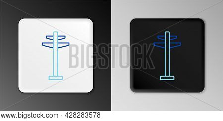 Line Electric Tower Used To Support An Overhead Power Line Icon Isolated On Grey Background. High Vo