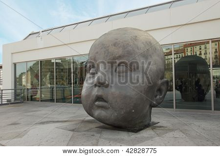 Baby Face Statue