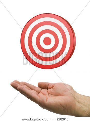 Hand And Target White