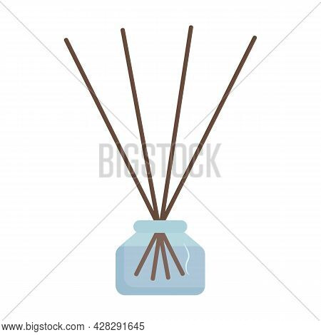 Aroma Reed Diffuser Vector Illustration. Aromatherapy Accessories
