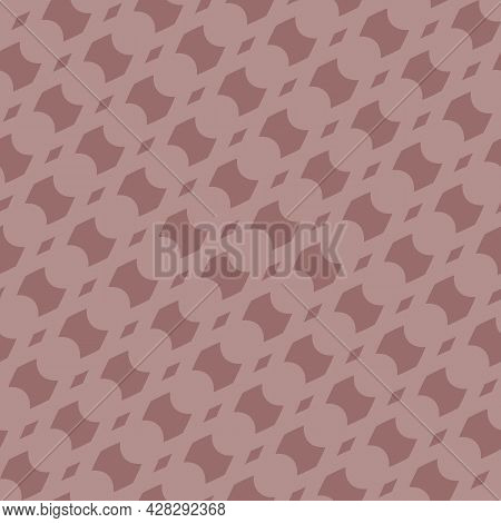 Vector Abstract Geometric Seamless Pattern With Diagonal Mesh, Net, Lattice, Curved Shapes. Simple T