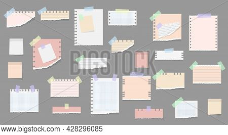Sticky Notes, Memo Messages, Torn Paper Sheets.
