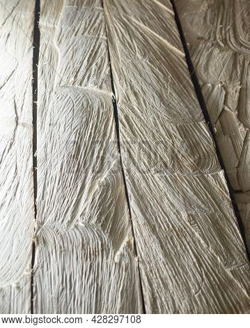 Unpainted Wooden Texture. Raw Planks Of Wood. Wooden Background. Timber. Lumber.