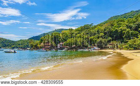 The Big Tropical Island Ilha Grande Abraao Beach Brazil.