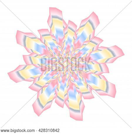 Abstract Figure Of Gentle Tones, Resembling A Snowflake Or Flower.