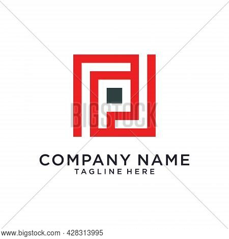 Initial Letter P Vector Logo Design Template.