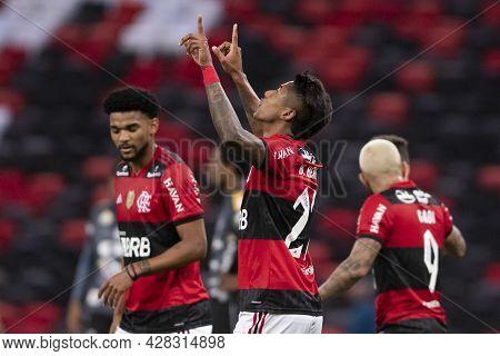 Rio, Brazil - July 29, 2021: Bruno Henrique Player In Match Between Flamengo 6 Vs 0 Abc By Brazilian