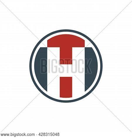 Illustration Vector Graphic Of Negative Space Letter Th Logo