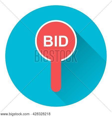 Bid, Lot Sale Bid Icon. Vector, Cartoon Illustration. Vector.