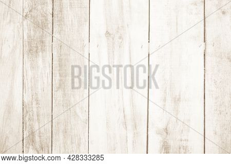 Brown Wood Texture Background. Wood Planks Old Of Table Top View And Board Wooden Nature Pattern Are