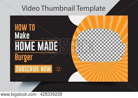 Video Thumbnail For Online Business Idea Workshop Food Recipe Or Social Media Web Banner. Multipurpo