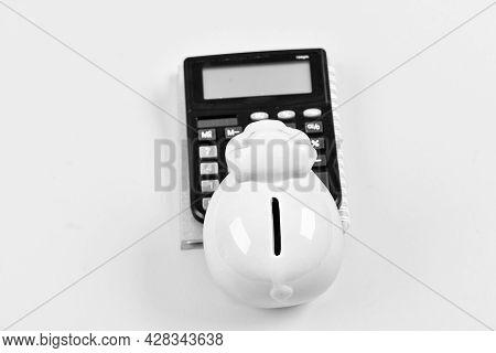 Economics And Finance. Credit Concept. Money Saving. Banking Account. Earn Money Salary. Money Budge