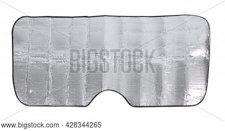 Sunshade For Windshield, Car Sun Reflector Isolated On White Background