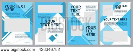 Coporate Brochure Template. Professional Info. Flyer, Booklet, Leaflet Print, Cover Design With Copy