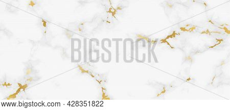 Abstract Marble Background For Decorative Design. Modern White Gray And Golden Abstract Background C