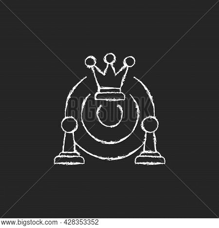 Common Strategy Chalk White Icon On Dark Background. Collective Purposes And Goals. Business Develop