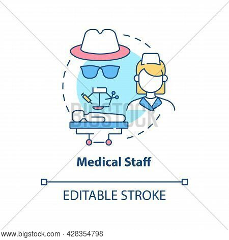 Medical Staff Concept Icon. Illicit Organ Transplantation Surgery Abstract Idea Thin Line Illustrati