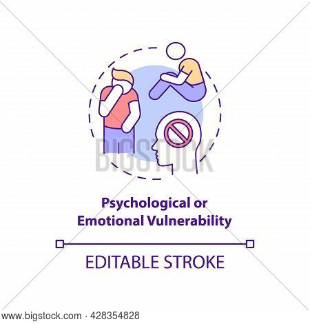 Psychological Or Emotional Vulnerability Concept Icon. Post Traumatic Stress Disorder Abstract Idea