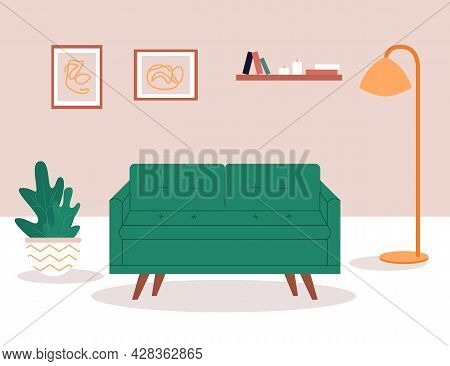 Interracial Lesbian Couple Relaxing On Comfy Sofa In Living Room. Spending Time Together In Apartmen