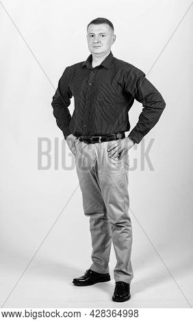 Man With Business Look. Boss And Employee. Formal Party Or Meeting. Business Owner. Confident Man. M
