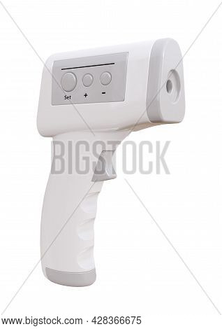 Infrared Thermometer Isolated On White Background. 3d Rendering