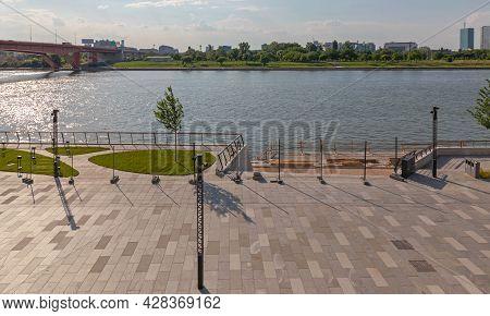 New Promenade At Sava River In Belgrade Serbia