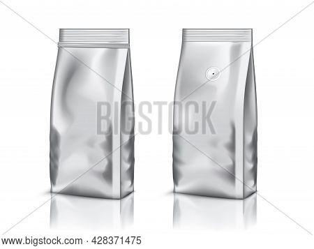 Aluminium Foil Bag Packaging Isolated On White