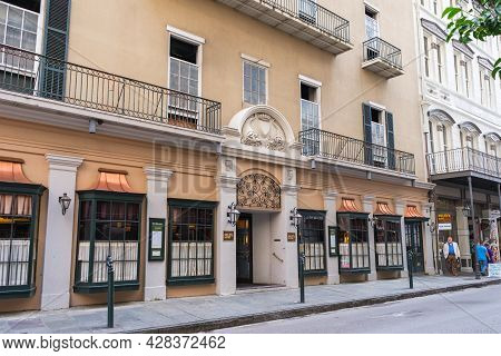 New Orleans, La - July 22: Front Of Mr. B's Bistro In The French Quarter On July 22, 2021 In New Orl