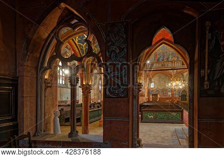 Strasbourg, France, June 24, 2021 : Saint-pierre-le-jeune Protestant Church From The Choir. This Got