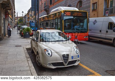 Bergamo, Italy - May 22, 2019: Alfa Romeo Mito Car On The Street. The Alfa Romeo Mito Is A Front-whe