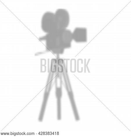 Movie Camera. Vintage Movie Camera On White Background.