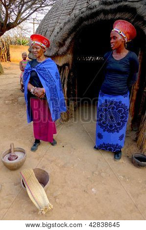 Zulu woman in traditional closes in Shakaland Zulu Village