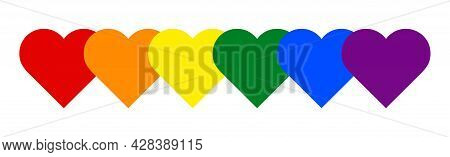 Vector Image Of A Lgbtq+ Color. Pride Symbol. Rainbow Color For Lgbtq , The Most Widely Known Worldw