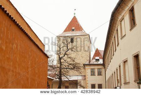 View Of Prague Castle Located In Prague, Czech Republic