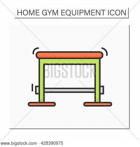 Plyo Box Color Icon. Jumping And Balance Training Equipment. Concept Of Body Balance And Coordinatio