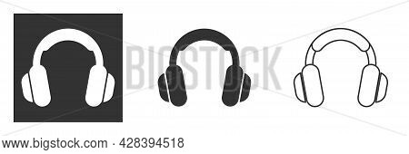 Headphone Icon. Conceptual Object For Listening To Music, Service, Communication And Operator. Vecto
