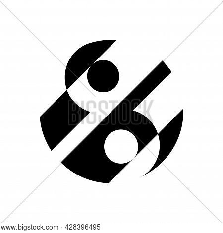 Design Solution Yin And Yang Button Icon. Logo Youth Creative Center. Spiritual Relaxation Of Modern