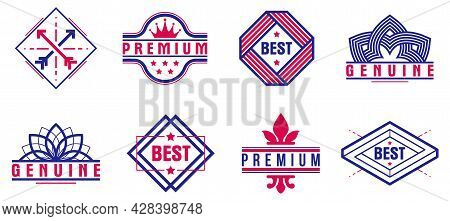Premium Best Quality Vector Emblems Set, Badges And Logos Collection For Different Products And Busi