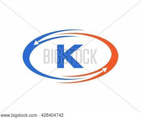 Technology Logo Design With K Letter Concept. K Letter Technology Logo
