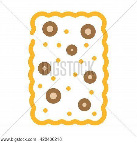 Cracker Dessert Color Icon Vector. Cracker Dessert Sign. Isolated Symbol Illustration