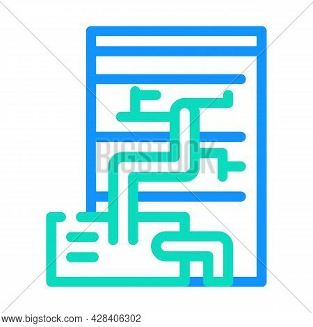 Eco Energy Scheme Color Icon Vector. Eco Energy Scheme Sign. Isolated Symbol Illustration