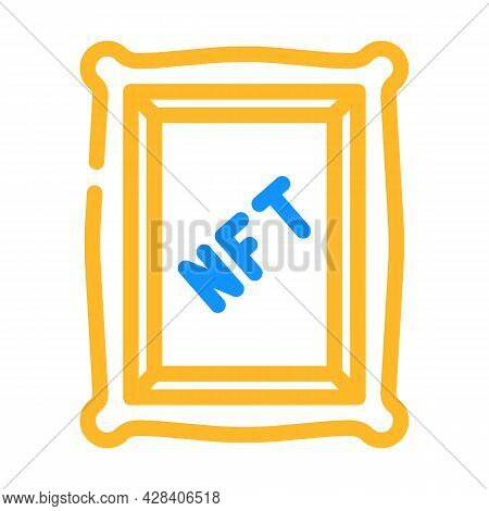 Nft Digital Painting Color Icon Vector. Nft Digital Painting Sign. Isolated Symbol Illustration