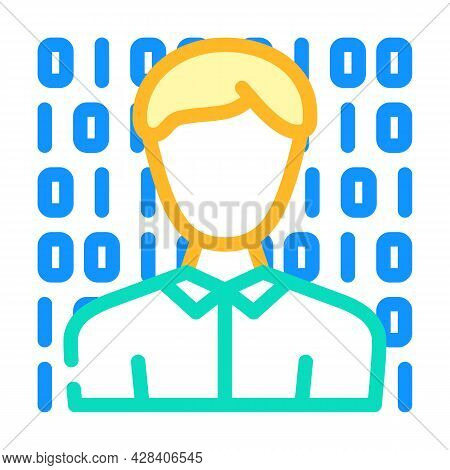 Anonymous Buyer Color Icon Vector. Anonymous Buyer Sign. Isolated Symbol Illustration