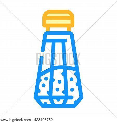 Salt In Salt Shaker Color Icon Vector. Salt In Salt Shaker Sign. Isolated Symbol Illustration