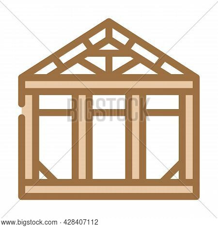 Steel Structure Color Icon Vector. Steel Structure Sign. Isolated Symbol Illustration